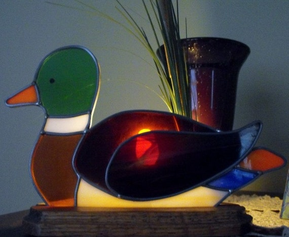 Stained Glass Duck Nightlight