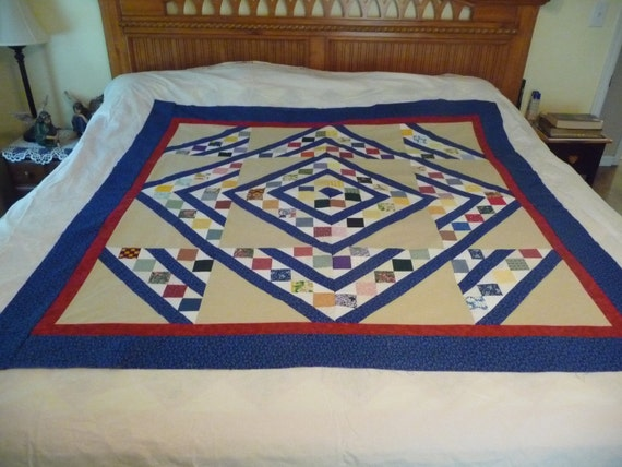 Quilters Choice Quilt Top 57 X 57 Throw, Lap Quilt, Wall Hanging