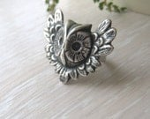 Owl  Ring in Silver or Brass