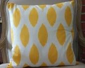Cushion cover ,yellow ikat design