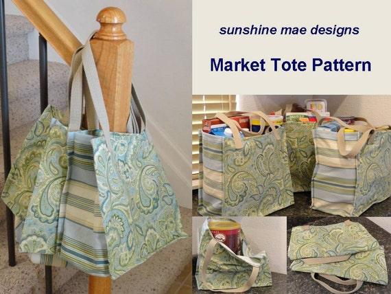 PDF Pattern - Reusable Grocery Market Tote Bag