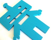 Robot - Wood Cut Out - Room Decoration - Sign