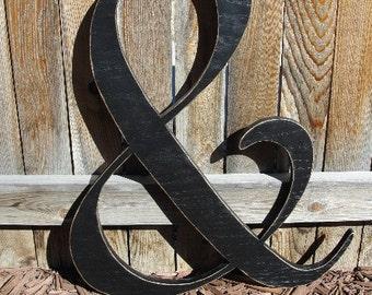 Wood Ampersand Sign - & - Wedding Photography Photo Prop
