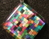 Stained Glass Inspired Glass tile Pendant - ChunkyMonkeyShop