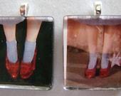 Ruby Slippers Glass Tile Pendant