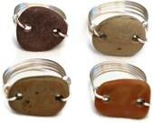 Custom Made Unisex Beach Stone Ring