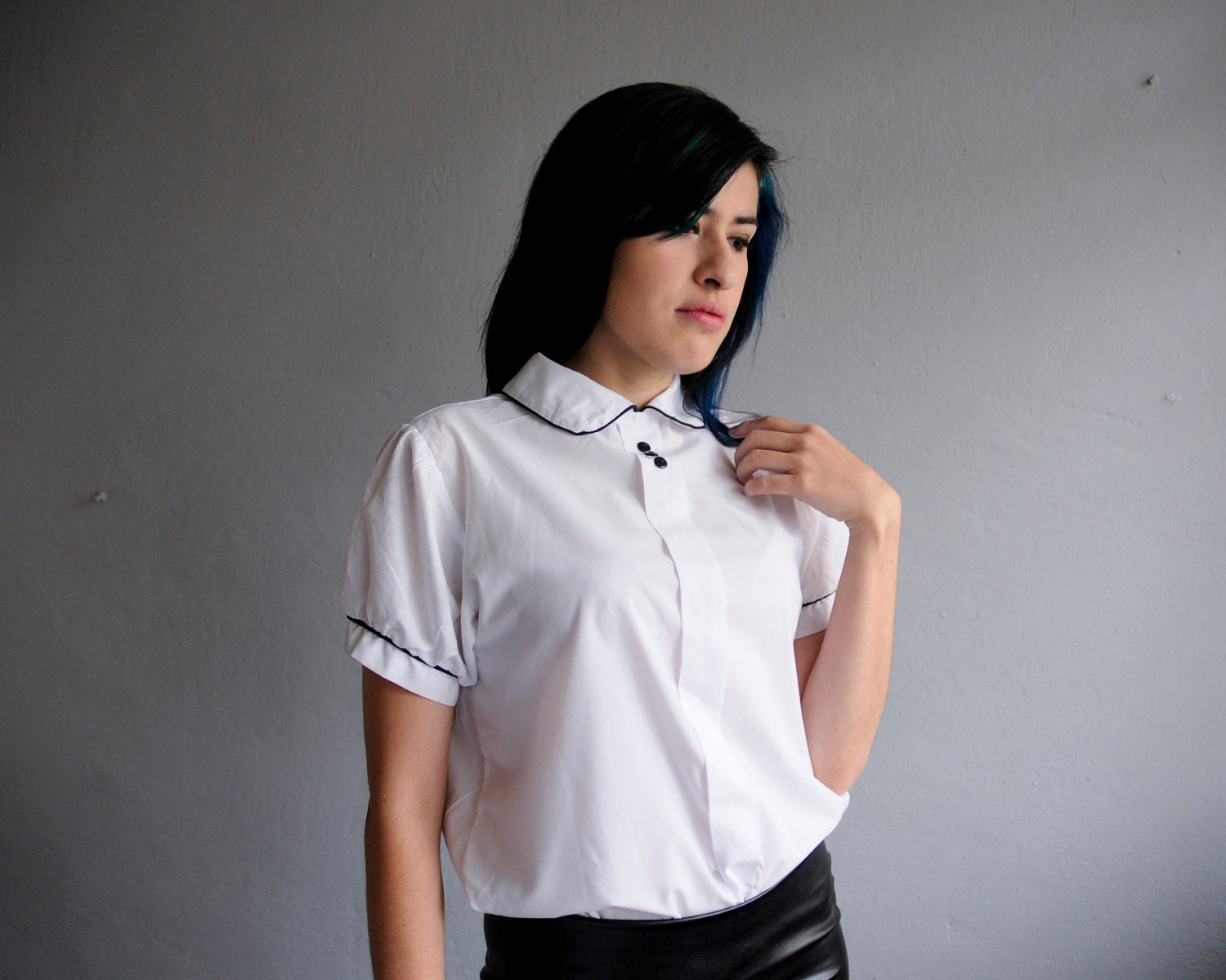 Peter Pan Collar White Blouse