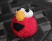 Elmo Sesame street felt r ornament MADE TO ORDER