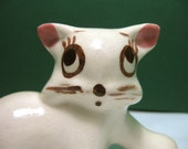 Vintage Rio Hondo Ceramic Cat with Pink Bow