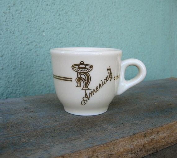 Vintage Espresso Cup Americaff Logo