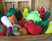 The ultimate felt fruit and vegetable collection  20 pieces