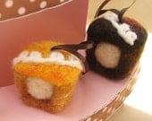 Needle Felted Fauxstess Cupcake Ornament