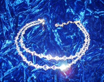 SALE SALE Crystal necklace from 60ies