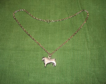 Man's Necklace Taurus the Bull &  Stainless Steel Chain Astrology