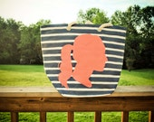 Custom Silhouette Bridesmaid Gift Tote Bag