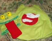 Custom Ghost Busters Emblem Slimer Fleece Halloween Costume. Sizes 1/2, 1, 2, 3, 4, 5, 6, 7, 8