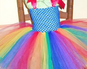 Rainbow Brite Inspired Tutu Dress