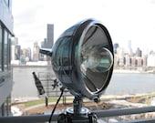 Tripod Floor Lamp - Antique Boat Spotlight