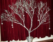Manzanita Tree, Manzanita Branches, Wedding Centerpiece, Silver Branch, Crystal Tee, Wishing Tree, 5 Feet 7 inches Tall, No Shipping