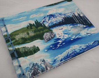 Custom Cloth Sketchbook or Journal Japanese Stab Bound with Ribbon