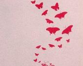 Bike and butterflies- woman's Deep V Neck, American apparel sunshine light pink t shirt, XXS -L  WorldWide Shipping
