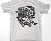 Retro Korea Asia Dragon men & ladies t-shirt  (id6508)