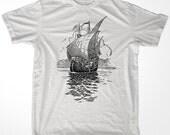 Retro Sail Ship 08 men & ladies t-shirt (id6104)