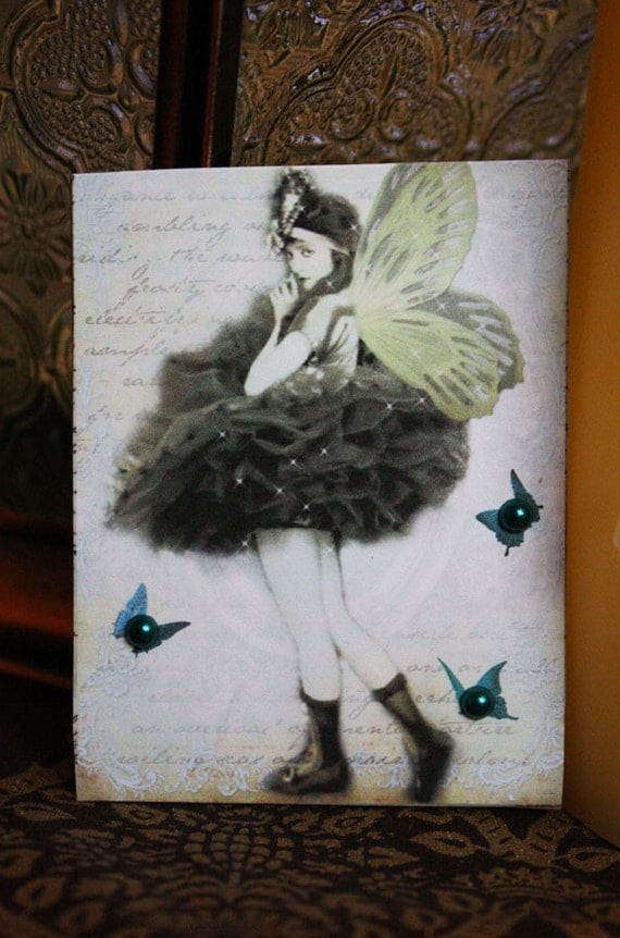 The Butterfly Ballerina-ACEO ATC Card by Posh Alchemy