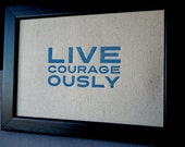 Fabric Courageously Print