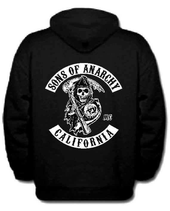 items similar to sons of anarchy samcro soa pullover. Black Bedroom Furniture Sets. Home Design Ideas
