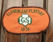 Girl Scout Cloverleaf Playday Patch 1970