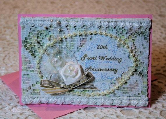 30th Pearl Wedding Anniversary Congratulatory Card