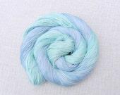 CIJ Sale - Hand Dyed Organic Cotton & Tencel Vegan Sock Yarn 100g - Doublemint