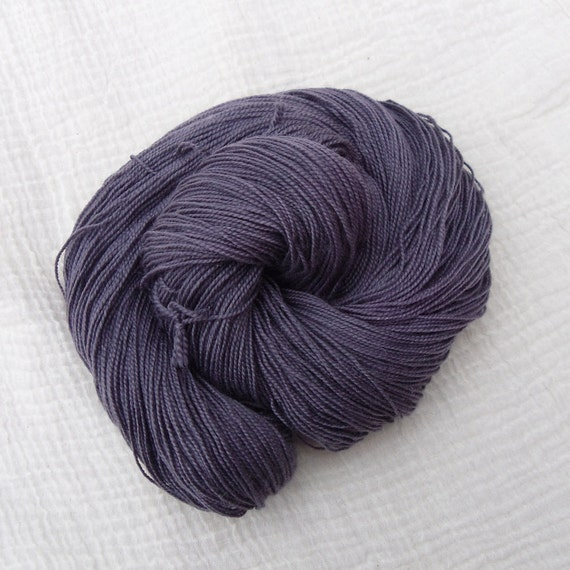 Hand Dyed Sparkle Sock Yarn 100g Silver Sparkle - Midnight Grape