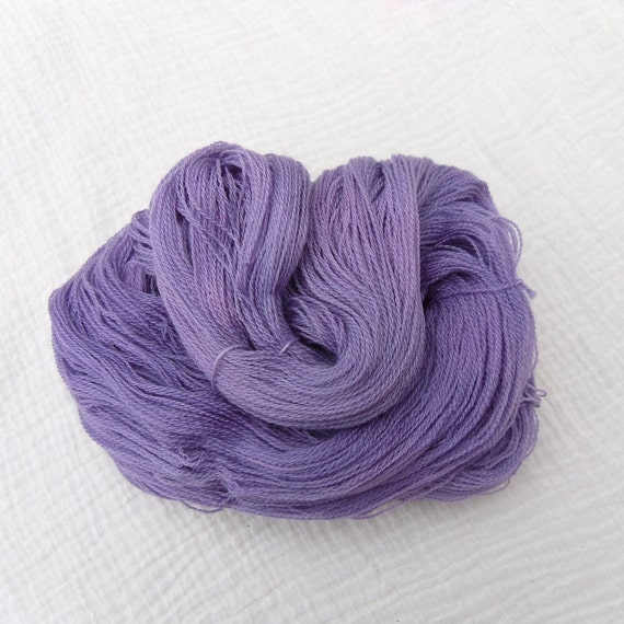 Hand Dyed Superwash Merino Lace Yarn - Pale Violets