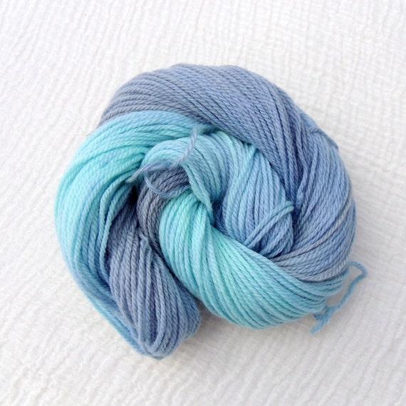 Hand Dyed BFL Aran Yarn - Bluebird