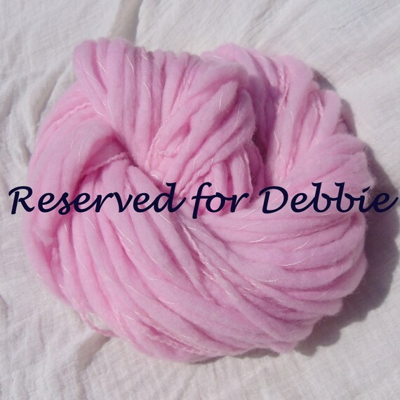 Reserved for Debbie - Hand Dyed BFL Flame Chunky Wrap Yarn 100g - Blossom Pink