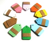 50 small Kraft Tags Die Cut - Gift Tags, Price Tags, Set of 50 Price Tags - 10 Colors - 1,57 x 1 inch (4 cm x 2,5 cm)