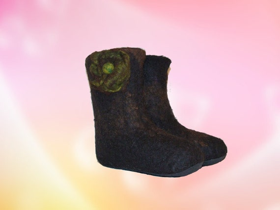 Eco Friendly Handmade Alpaca felted Boots