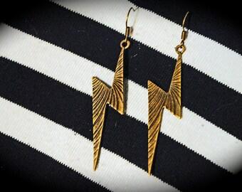 Handmade Lightning Bolt Earrings