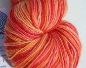 "Hand-dyed ""Phoenix Lemonade"" Tintagel BFL Fingering 400 Yards"