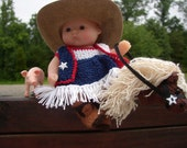 Josie the Lone Star Texas Cowgirl  5 inch berenguer doll