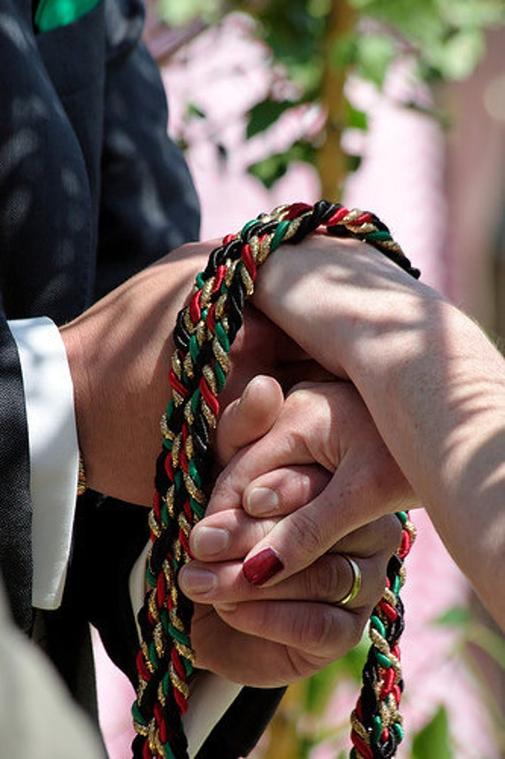 CUSTOM Celtic HANDFASTING CORD  You choose the Colors  Weddings Vow Renewals