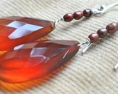 """Natural Chalcedony """"honey"""" Earrings - Warm and Sweet"""
