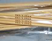 6 Inch Double Pointed Bamboo Knitting Needles - Sizes 0 1 2 3 or 4