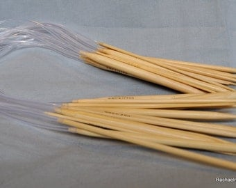 32 Inch Circular Bamboo Knitting Needles - Sizes 9 10 10.5 or 11
