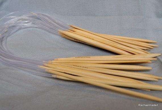 24 Inch Circular Bamboo Knitting Needles - Sizes 9 10 10.5 11 13 or 15