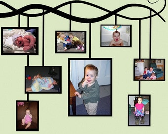 Photo Frame Vine Wall Decal Picture Frame Sticker