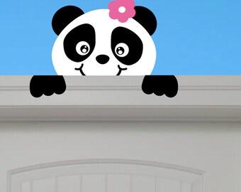Peeking Panda - Your child will love this adorable panda peeking down on them
