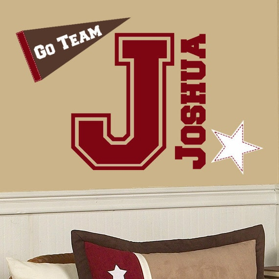 Sports decals for baby room baby room headboard vinyl for Sports decals for kids rooms